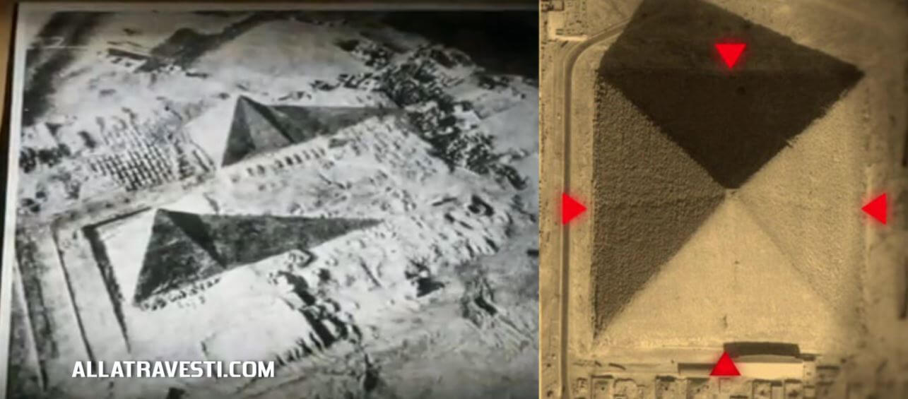 Пирамида Хеопса. На фотографии видны 8 граней